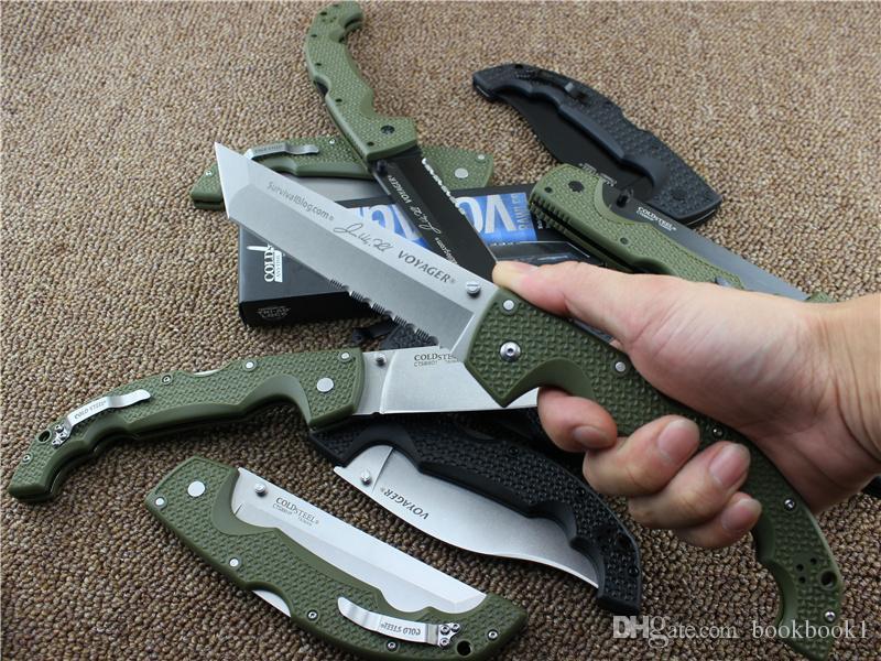 10 türleri Soğuk Çelik VOYAGER BIÇAKLAR XL-SIZE serisi Büyük katlanır bıçak yardımcı survival avcılık taktik bıçaklar açık Ücretsiz kargo.
