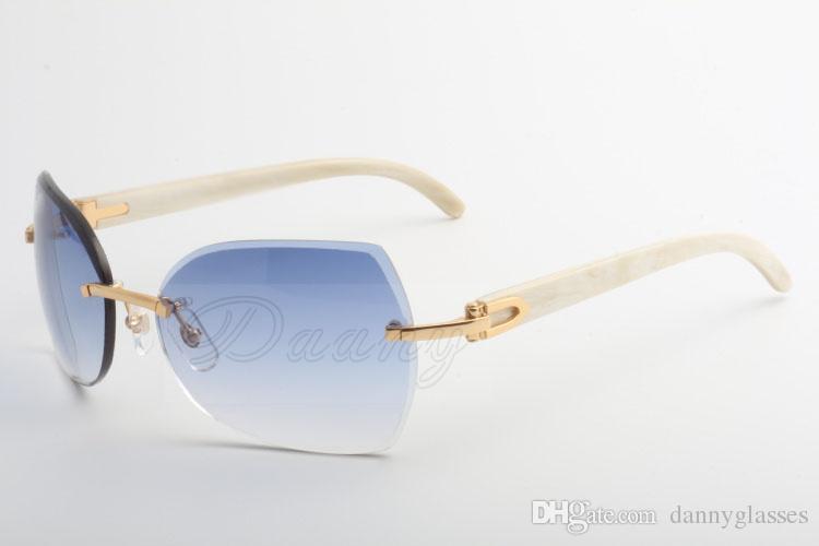 La fabbrica vende nuovi tipi di occhiali da sole, 8300818 occhiali da sole di alta qualità, occhiali e angoli bianchi: 60-18-140 millimetri