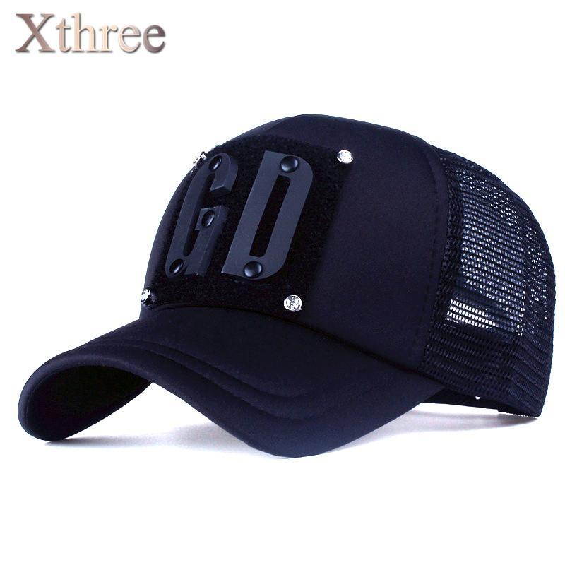 c565c64e10598 Wholesale xthree5 Panels Fashion Men Summer Baseball Cap Women Rivet Mush Cap  Snapback Hat For Girl Bone Gorras Lids Hats Visors From Jutie