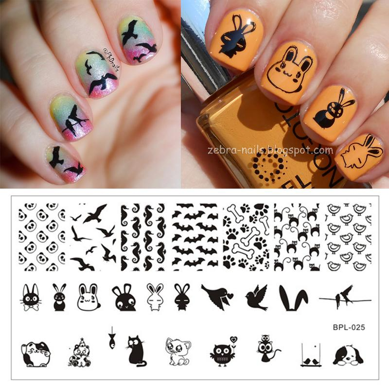 Wholesale 12 5 X 6 5cm Full Cute Animal Theme Nail Art Stamp