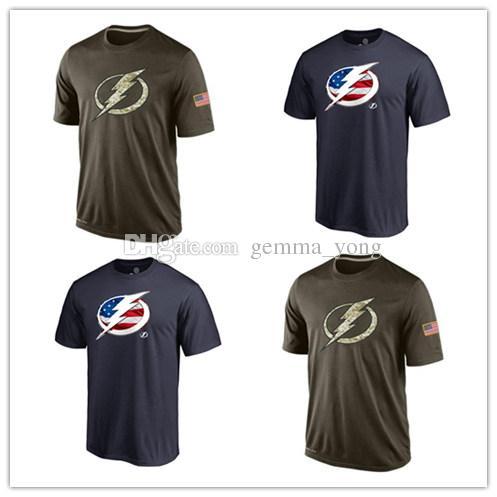 21b2b03106144 Compre Popular NHL Tampa Bay Lightning Camisetas 2017 Hockey Jerseys  Camisetas Baratas Lightning Salute To Service Camuflaje Hombres Camisas Azul  Marino A ...