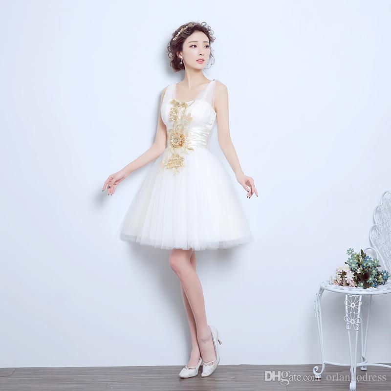 Новые вечерние платья с аппликациями элегантные девушки женщины невесты платье мода короткий бал Пром партии Homecoming выпускной вечернее платье
