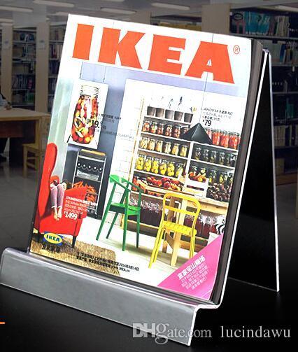 Exhibition Display Racks : A acrylic desk book magazine literature display rack table