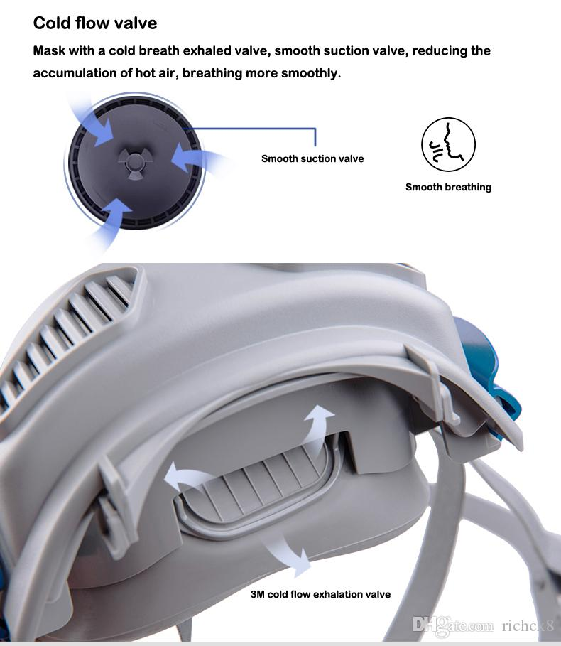 3M 7772 Half Face Mask Respirator Mask Anti-dust Mask +7744C filter cotton suit, miner protection, industrial dust protection, mask,MASK