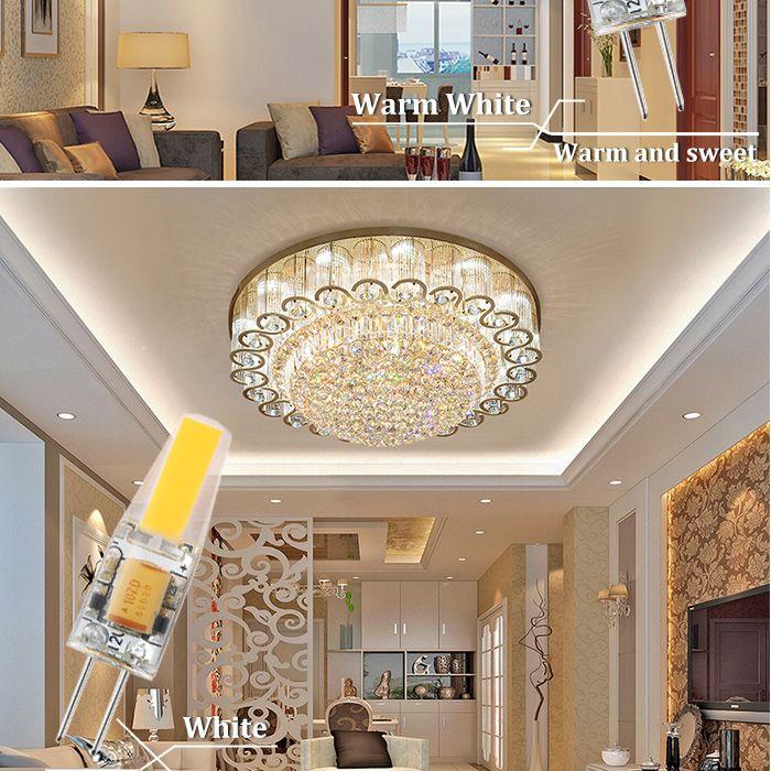 Les lampes de lustre d'ampoule de la lumière 2W 4W LED de COB de LED de 12V CA / CC de Dimmable remplacent les lumières d'halogène /