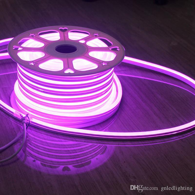 AC110 AC220V SMD2835 14X26MM LED 네온 플렉스 스트립 라이트 6W LED 네온 로프 라이트 120LEDS LED 네온 라이트 50M /