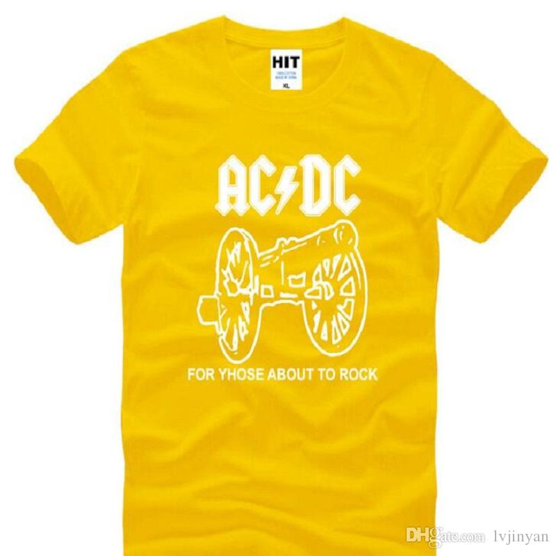 New Summer Style ACDC T Shirts Men Cotton Short Sleeve ACDC Rock Band Man T-Shirt Fashion Male Rock Roll Hip Hop Tee Shirt Hot