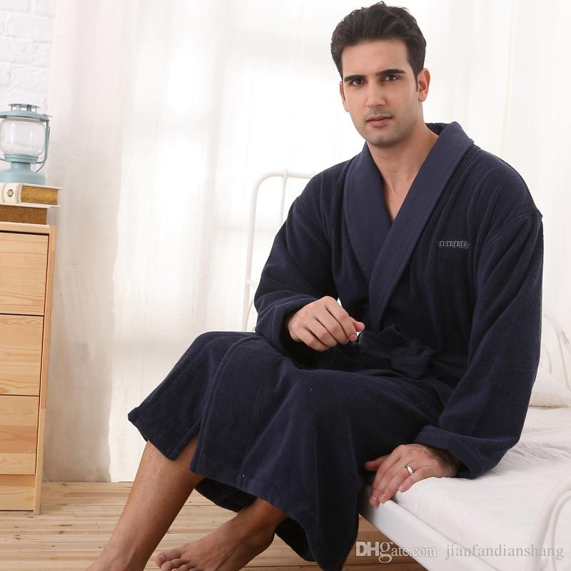 e2a9d05ef2 Cotton Barhrobe Men Plus Size XL Brand Toweling Terry Pajamas Women ...