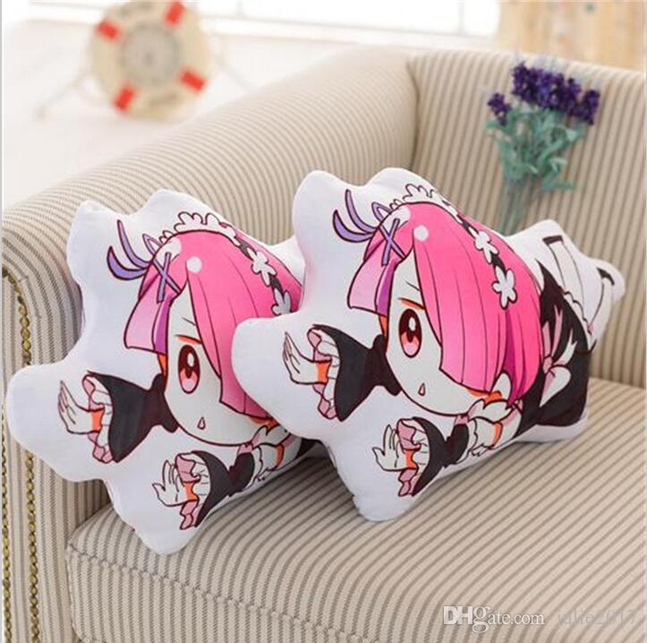 60*38cm Anime Re:Life in a Different World From Zero Rem Ram Pillow Plush Toys Cute Cushion Plush
