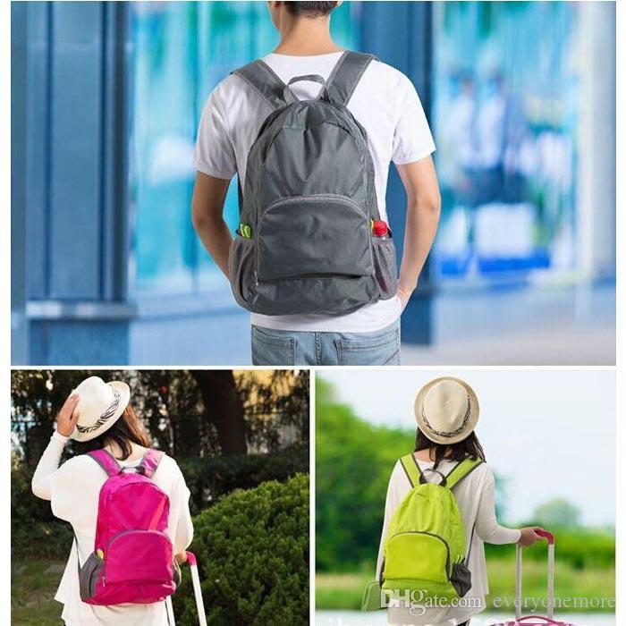 Femmes Hommes Sac à dos Sac à dos Sac à dos Ultra Léger Pliant Sac à dos Voyage Nylon Bagpack Sacs à bandoulière