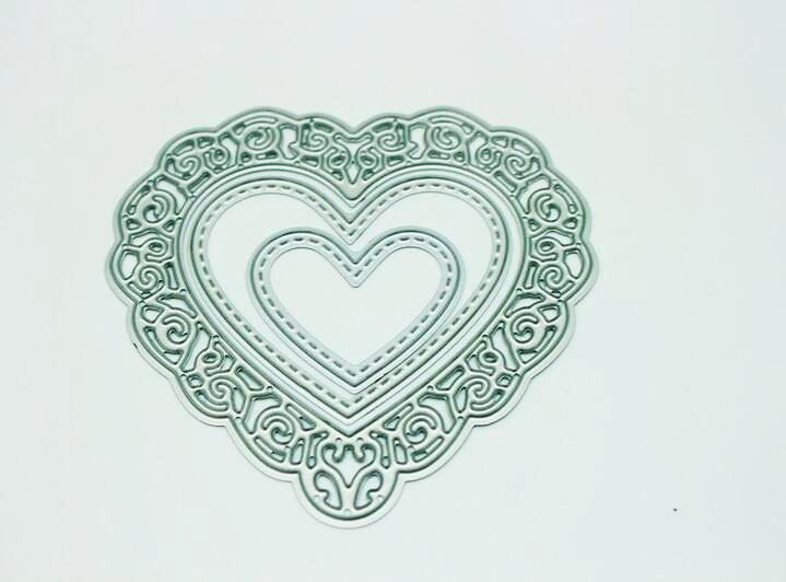 Troqueles de corte en relieve de metal Stencil DIY Scrapbooking decoración del papel del álbum de boda