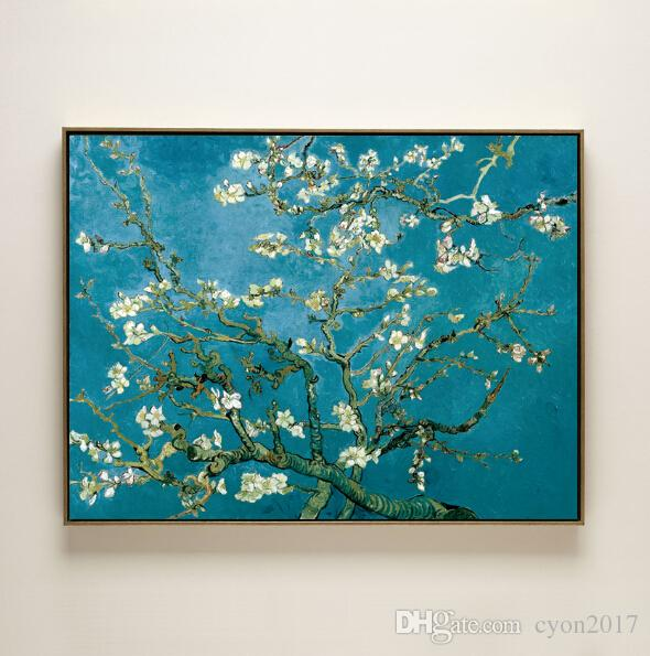 impression Van Gogh blooming apricot flower canvas printings oil painting on canvas wall art decoration picture