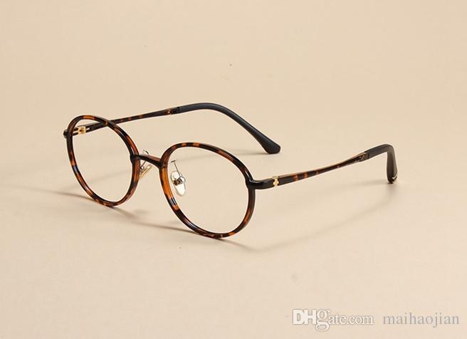 Compre Fashion Myopia Ojo Circulares Gafas Marco Ultra Ligero De ...