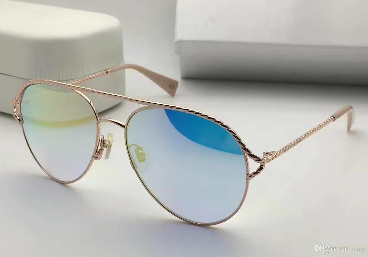 386807cc5 WOMENS METAL TWIST SUNGLASSES Pink/silver Mirror Shaded Lens Brand ...