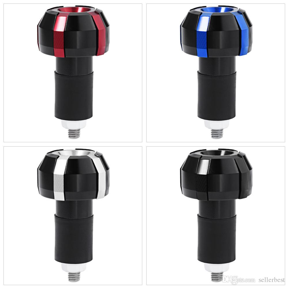 New Pair Motorcycle Handlebar Grip Bar End Plug Modification Part Accessory Made from Aluminum Alloy and Plastic Cement