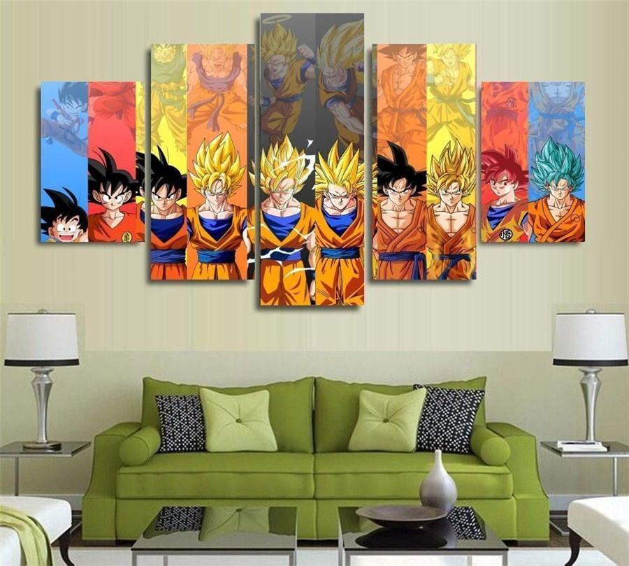 2019 . Dragon Ball Z Goku Vs Friends,Home Decor HD Printed Modern