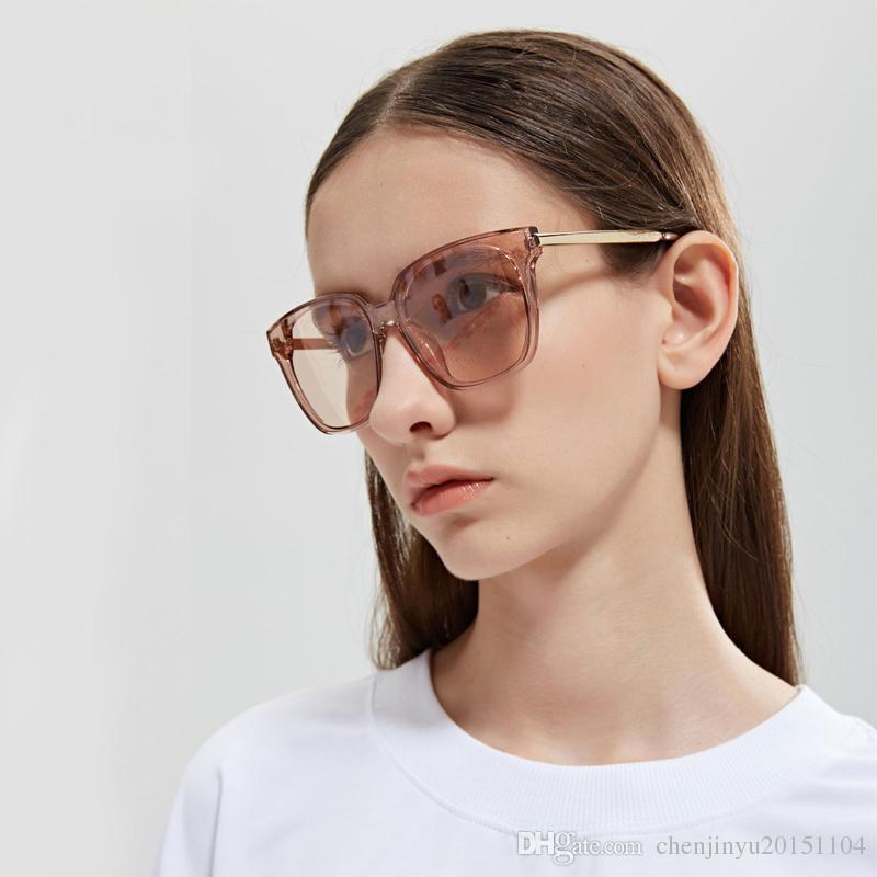 ALOZ MICC 2019 Classic Fashion Donna Occhiali da sole Occhiali da sole Frame Frame Lenti grigie e marroni New Style Occhiali da donna uv400 A264