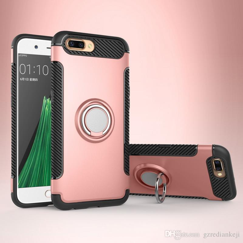 Dual Layer with Iron Sheet Perfectly use with Magnetic car holder Mobile Phone Accessories Cell Phone Case for OPPO R11 R11+