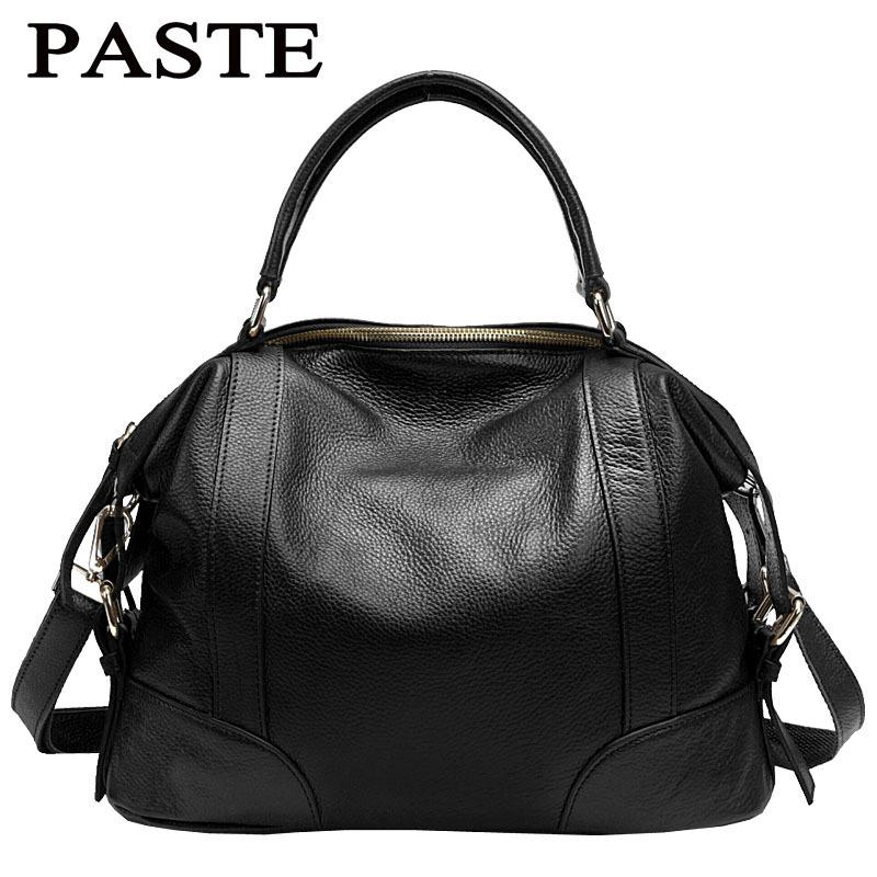 1cd22b392354 Wholesale PASTE Women Genuine Leather Shoulder Bag Casual Tote Vintage  Famous Brand Designer Women Messenger Bags Ladies Luxury Handbags Purses  Designer ...