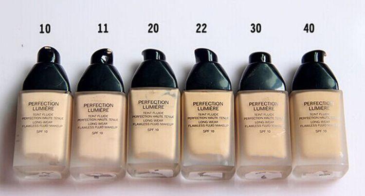 Hot Brand C líquido Perfection Lumiere foundation Sp10 corrector largo uso 30ml cada tono o múltiple 12