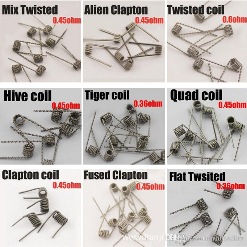 Alien Fused Clapton Flat Mix Twisted Hive Quad Tiger Heating Wires ...