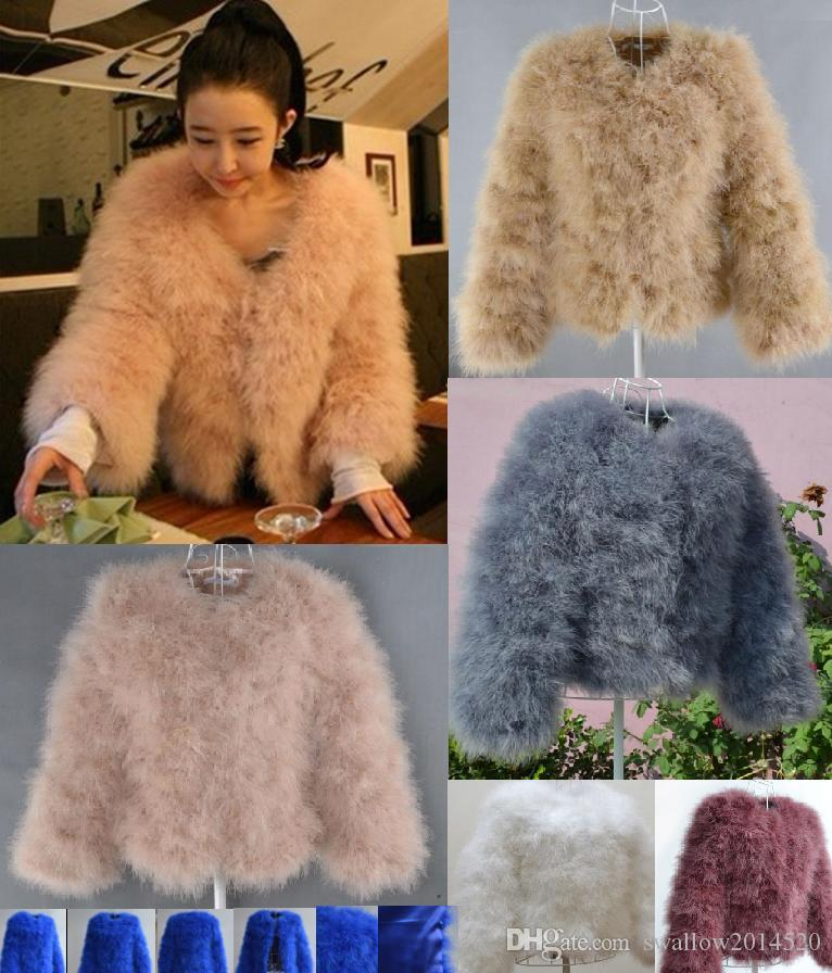 bd348bb03d3 2019 New High Quality Fashion Sexy Ostrich Turkey Fur 2017 Wool Coat  Feather Fur Short Jacket Angelababy Swagon Apparel In Stock From  Swallow2014520, ...
