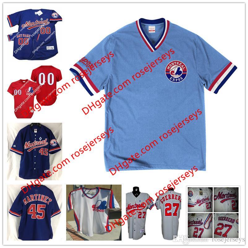 ecc986617 2017 montreal expos custom vintage tee jersey 2002 navy blue mesh 1989 red  ...