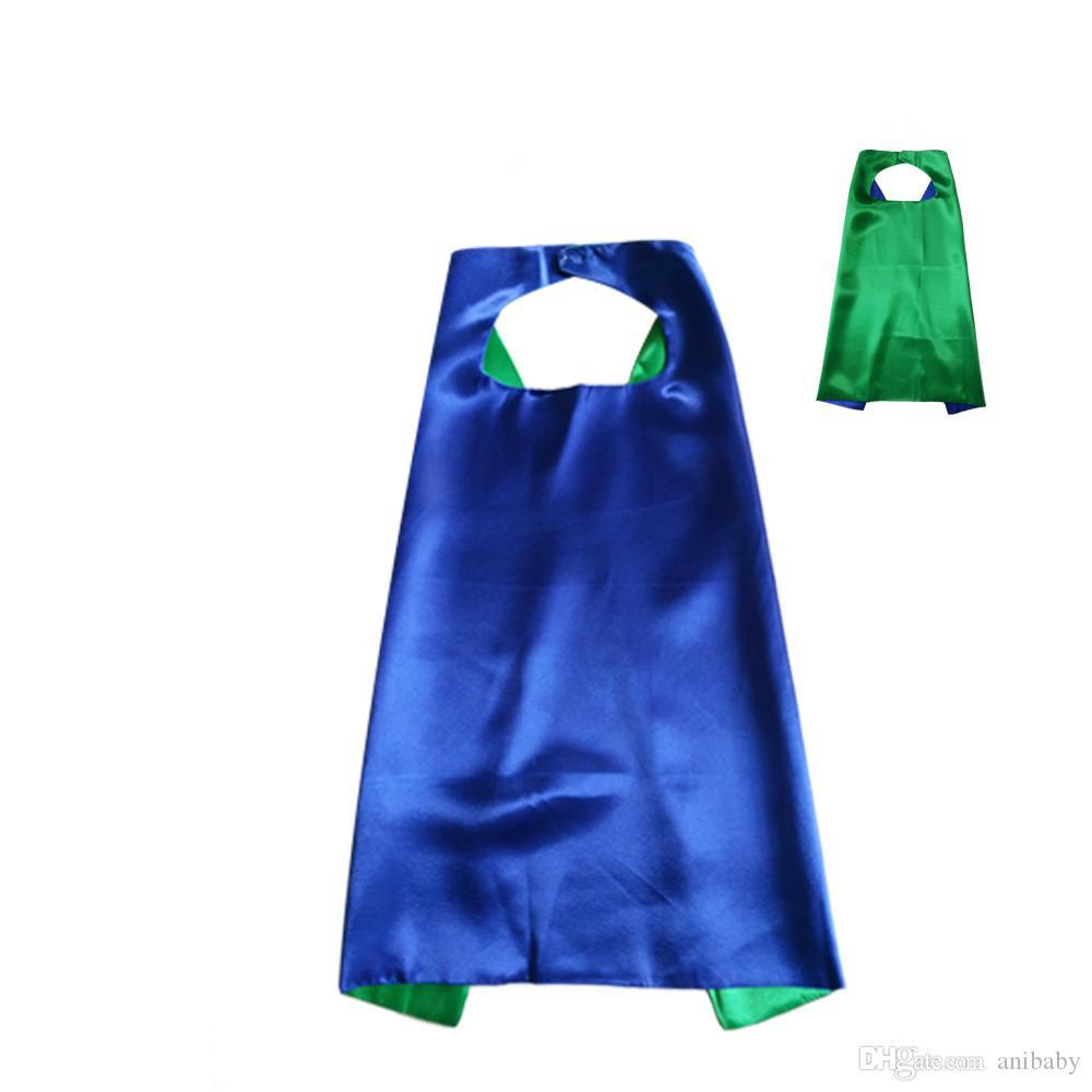 11Colours Double Side Cape con es diferentes 70 * 70 cm Capas para niños Navidad Halloween Cosplay Prop Disfraces Cabo L007