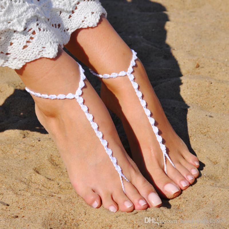427385ccc19666 Crochet Barefoot Sandals