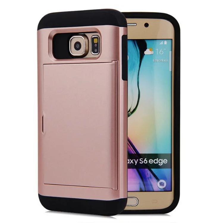0a50ab20ed0 Accesorios Para Celular Funda Multifunción Para Samsung Galaxy S6 Edge Plus  Billetera Con Ranura Para Tarjeta