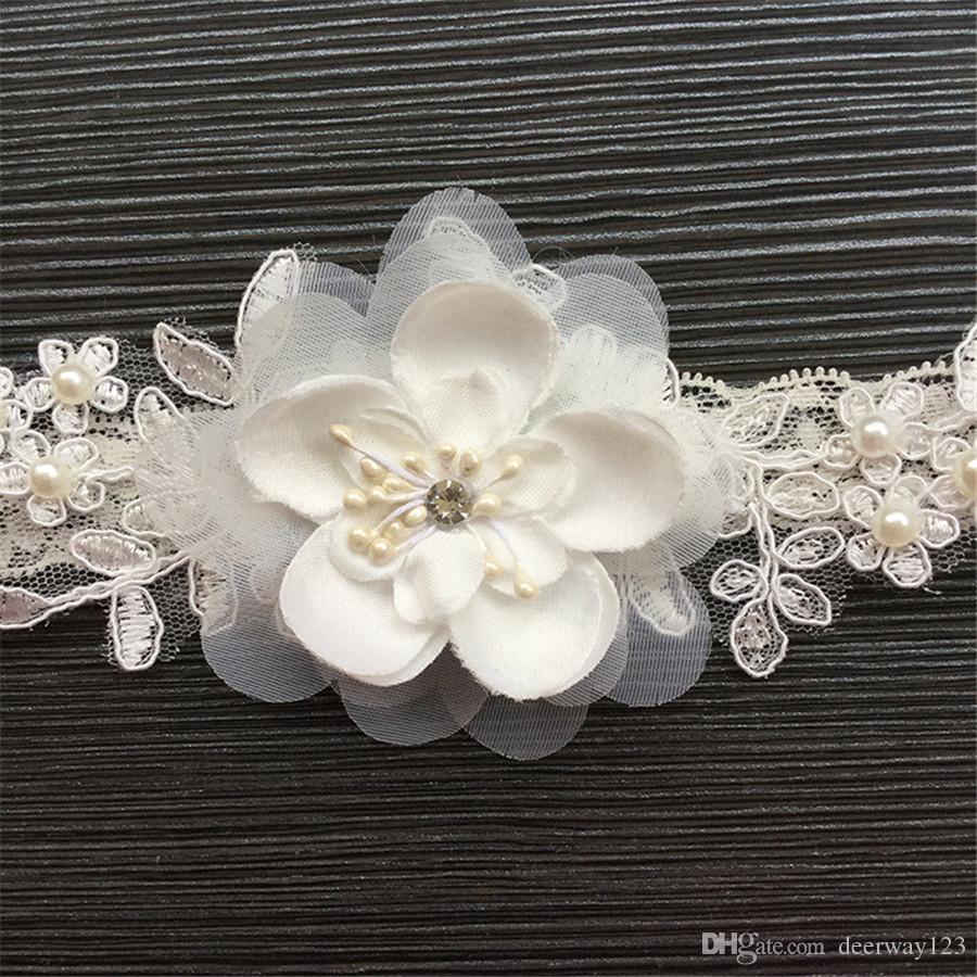 Lace Floral Wedding Bridal Garter Set Handmade 3D flower Applique Elastic Keepsake & Toss Garter Lace Belt Legs Ring Harness