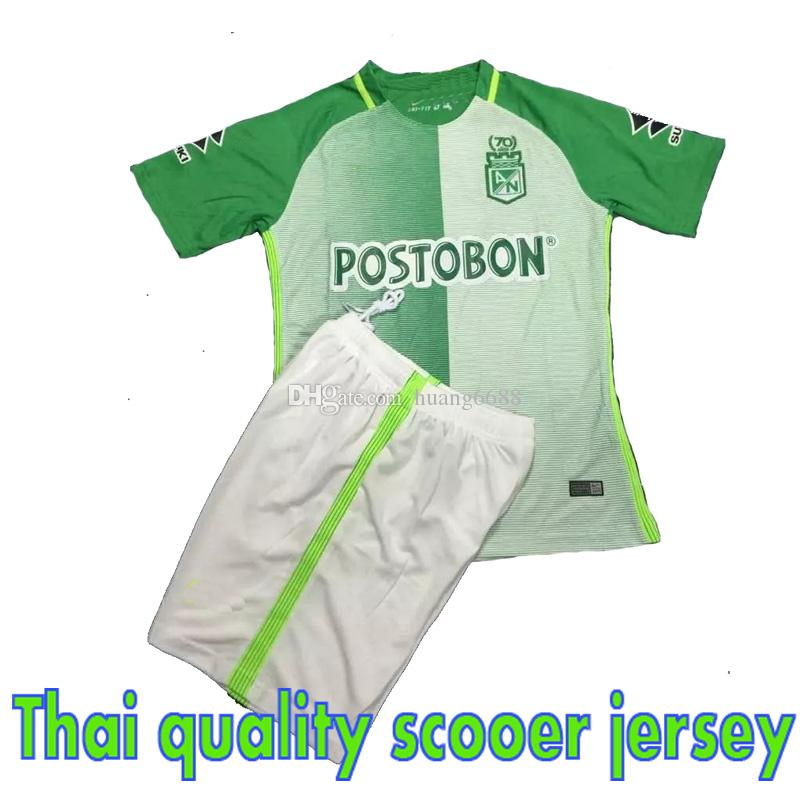 fac5cbb6c7f 2019 New 2017 2018 Colombia AtlEtico Nacional Adult Suit Jerseys Newest Thai  Quality Shirt 17 18 AtlEtico Nacional Man Kit Shirts From Huang6688
