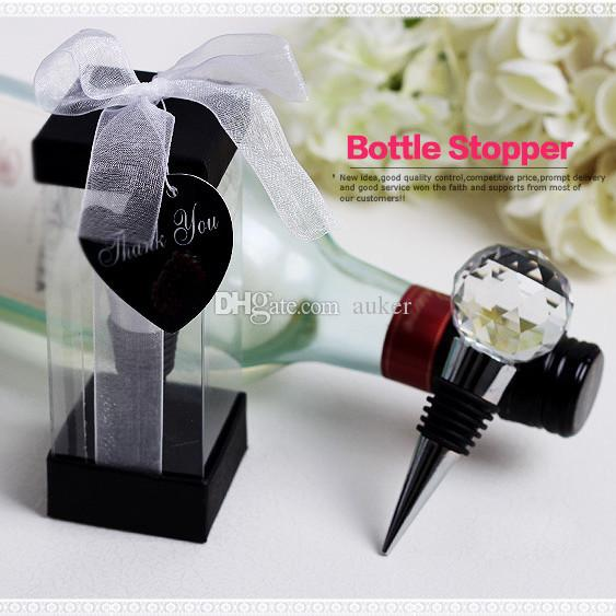 crystal ball wine bottle stopper wedding bridal shower favors gifts party decoration gift for guest dhl customized wine bottles diy favors from auker