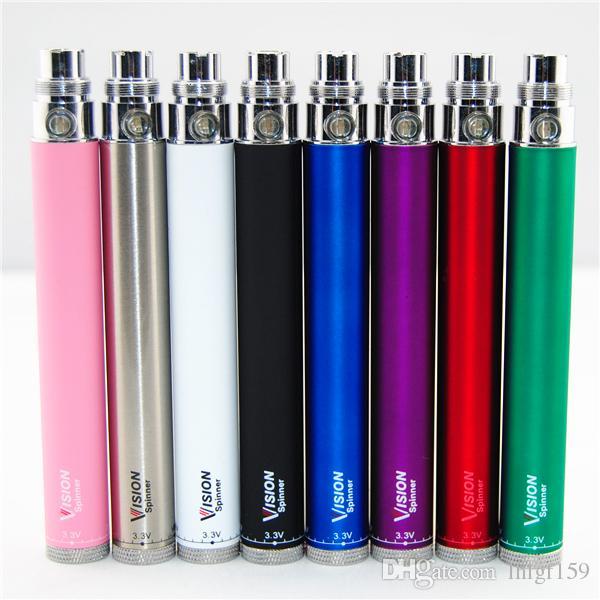 Top Vision Spinner-batterier 650/900/1100 / 1300mAh Twist 3.3 ~ 4.8V Variabel Spänning VV VAPE PEN 510 Batteri för elektronisk cigarett EGO Atomizer