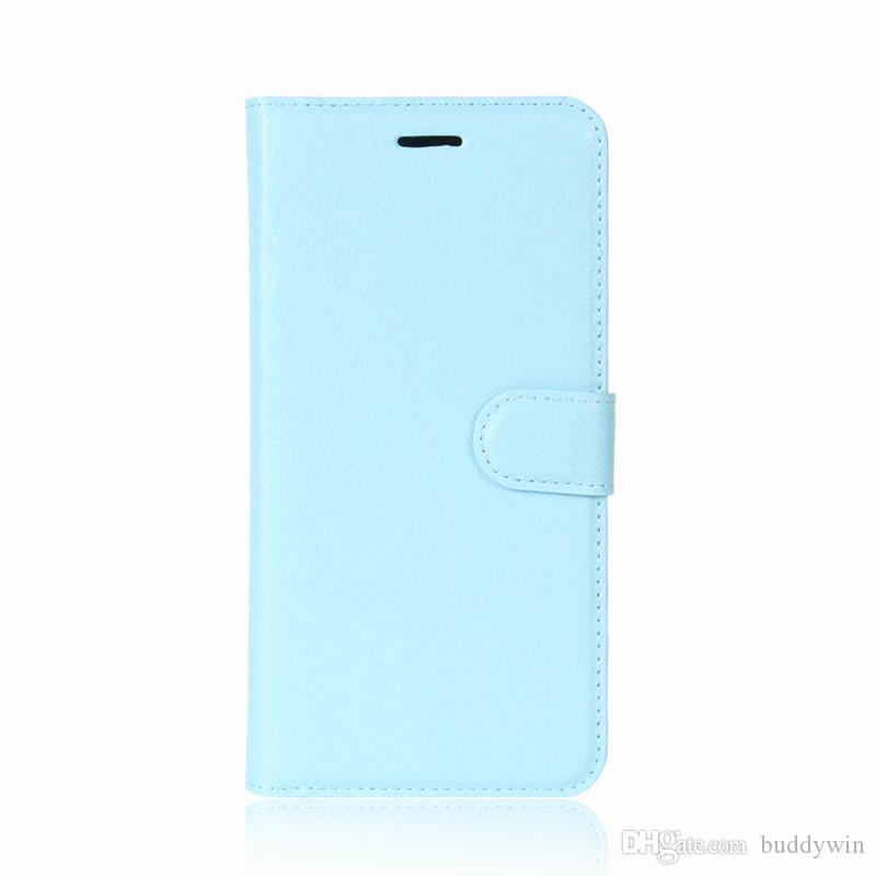 For iphone X Litchee Pattern Leather Cover Case Support Standholder Card Slot Pocket for iphone X Free DHL
