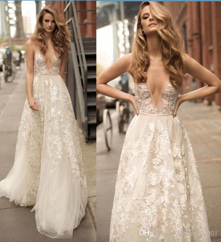 Discount Boho Beach Lace Wedding Dresses 2017 Summer Berta