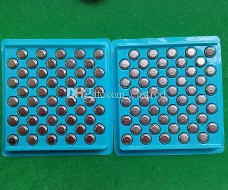10000 stks / partij, 0% HG PB Mercury Gratis AG13 LR44 A76 1.5V alkaline knop Cel batterij muntcel batterij