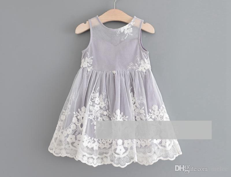 3ef7b489457f2 Satın Al Kız Yaz Nakış Dantel Elbiseleri Çocuk Pamuklu Plaj Partisi Giydir  Kızlar Gri Sundress Elbiseleri Kızlar Solid BOHO Elbise, $71.36 |  DHgate.Com'da