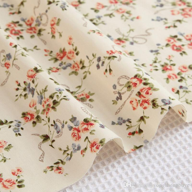 Cotton Flower Pre Cut DIY Handmade Decor Charm Cloth Squares Quilt Household Sewing Fabrics Textiles