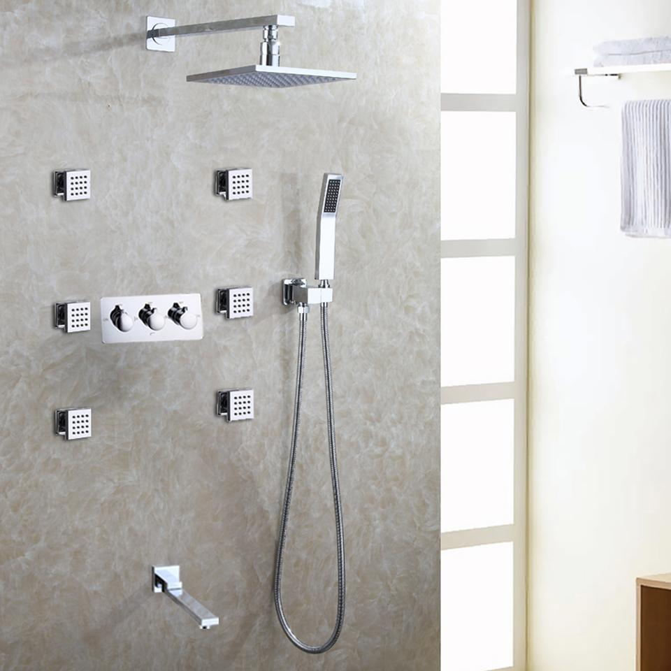 2018 Bath & Shower Faucet Set Easy Installation Shower System Led ...