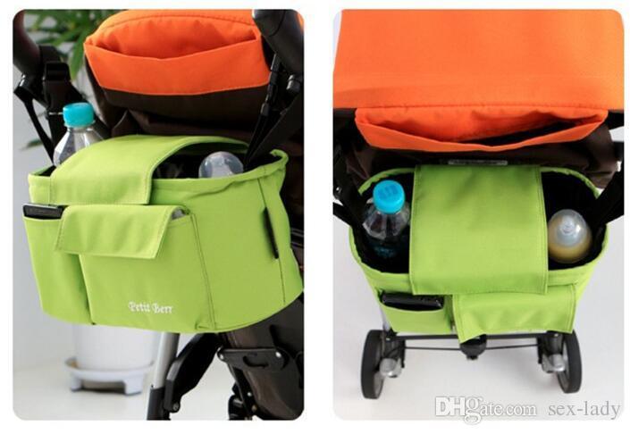Baby Hanging Basket Multifunction Stroller Organizer Pram Storage Bag Stroller Accessories Large Capacity Diaper Bag