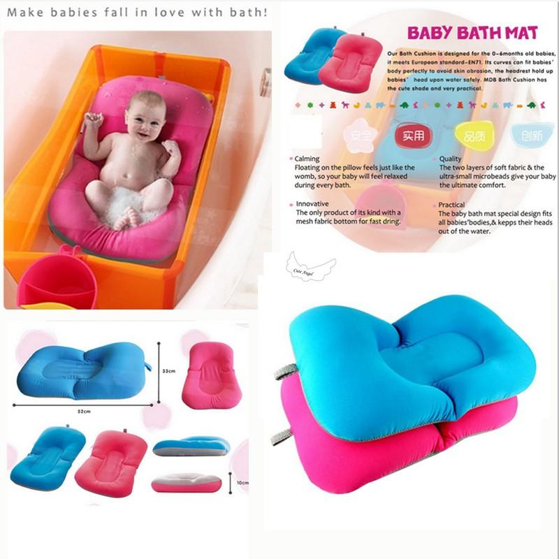 2018 Non Slip Bathtub Mat Newborn Safety Security Bath Seat Support Baby  Shower Portable Air Cushion Blooming Bath Baby Bath Pad From Keyline, ...