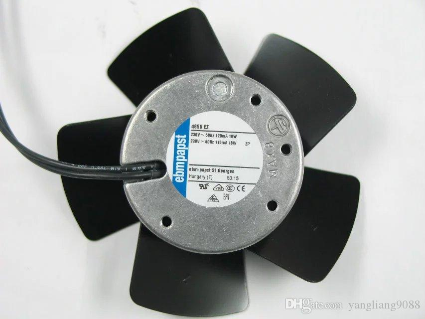 ebmpapst 4656 EZ 4656EZ AC 230V 18W 19W 50Hz 60Hz 2-wire 120x120x38mm Server Round Cooling fan