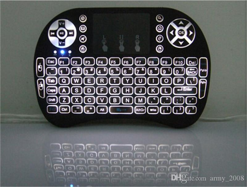 Rii I8 Smart Fly Air Mouse Retroiluminación Remota 2.4 GHz Teclado Control Remoto Touchpad Para S905X S912 TV Android Box X96 T95