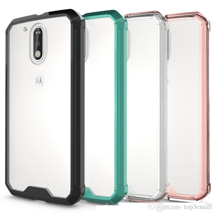 more photos 729bc 1f2c4 For MOTO G4/G4plus Case Air Cushion Tech Shell Soft TPU Bumper Clear Back  Cover Transparent Hybrid Armor Cases For Motorola MOTO G4 G4plus