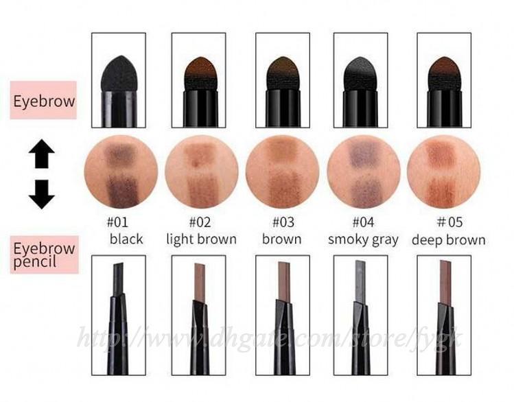 Mädchen Triad Kissen Augenbrauenstift Augenbrauenstift, Lidschatten, den Schatten und Eyeliner schaffen die Mode Augenbraue