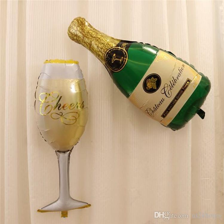 행복한 웨딩 파티 맥주 결혼 포일 풍선 큰 크기 파티 신부 신년 웨딩 풍선 축하 파티 풍선 장식