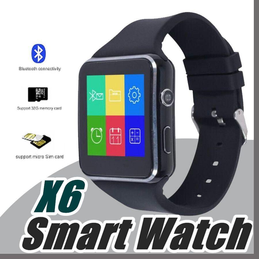 182227b933c Compre 10X Tela Curvo X6 Smartwatch Smart Watch Pulseira Telefone Com Slot  Para Cartão Sim Tf Com Câmera Para Samsung Sony Todos Os Android Telefone  Móvel L ...