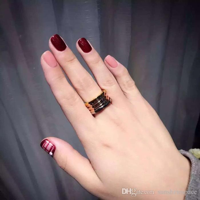 Queen Lotus New Famous Brand Stainless Steel Women Ring Plated Fashion Jewelry Wholesale