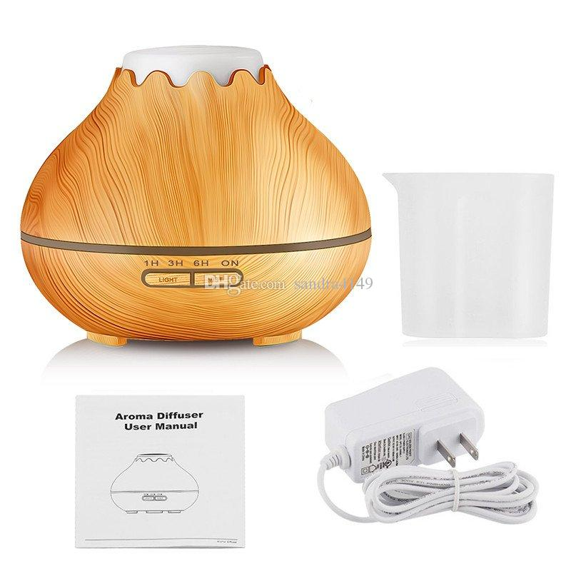 3 Mode Time Setting 300ml Capacity Ultrasonic Essential Oil Aromatherapy Diffuser Cool Mist Wood Grain Aroma Humidifier Diffuser